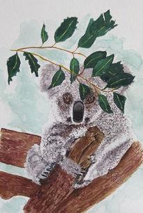 Bär, Aquarellmalerei, Tiere, Aquarell