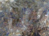 Leinen, Spachtel, Abstrakt, Malerei