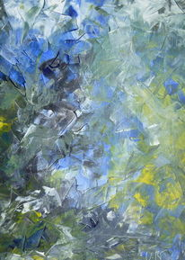 Blau, König, Acrylmalerei, Schwarz weiß