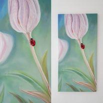 Marienkäfer, Tiere, Realismus, Tulpen