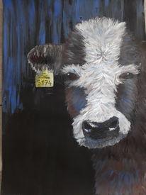 Natur, Kuh, Acrylmalerei, Tiere