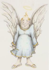 Skuril, Engel, Zeichnung, Zeichnungen