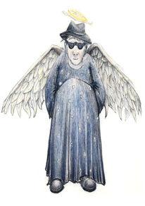 Zeichnung, Engel, Skuril, Zeichnungen