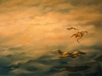 Surreal, Fantasie, Ölmalerei, Malerei
