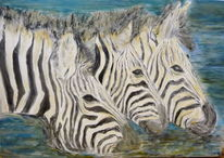 Acrylmalerei, Malerei, Zebra