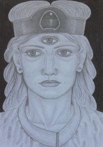 Ausdruckszeichnung, Mythologie, Zeichnung, Vorstellung