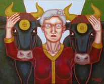 Malerei, Figural, Göttin, Symbolismus