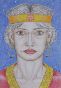 Zeichnung, Symbolismus, Portrait, Heimat