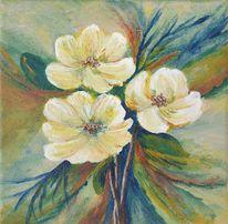 Blumenstrauß, Blumen, Blüte, Malerei