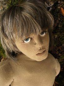 Skulptur, Puppe, Portrait, Kunsthandwerk