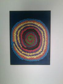 Eispirale, Acrylmalerei, Malerei