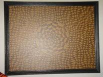 Holzbrennerei, Abstrakt, Mandala, Kunsthandwerk