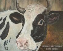 Kuh, Keinwand, Acrylmalerei, Malerei