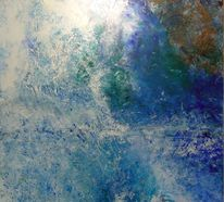 Himmel, Ölmalerei, Blau, Malerei