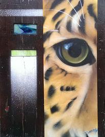 Urwald, Jaguar, Jaguarauge, Holz