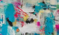 Acrylmalerei, Informel, Komposition, Vertikal