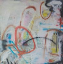 Informel, Kontrast, Acrylmalerei, Mischtechnik