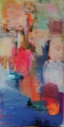 Komposition, Abstrakt, Acrylmalerei, Malerei