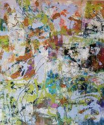 Komposition, Acrylmalerei, Abstrakt, Malerei
