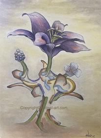 Pracht, Blumen, Ölmalerei, Abstrakt