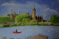 Ölmalerei, Hadesl, Schweriner schloss, Malerei