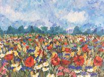Malerei, Blumenwiese