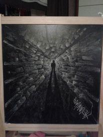 Tunnel, Licht, Schatten, Malerei