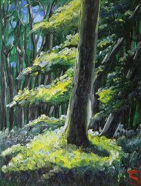 Wald, Stubnitz, Sonne, Malerei