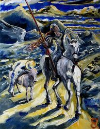 Don quichotte, Malerei,