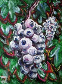 Trauben, Genmanipuliert, Gentrauben, Malerei