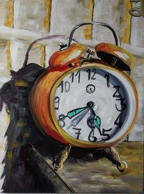Wecker, Ruhe, Uhr, Malerei