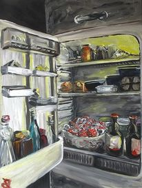 Kühlschrank, Box, Magie, Malerei