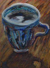 Tasse, Kaffee, Malerei