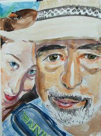 Aquarellmalerei, Malerei, Portrait, Aquarell