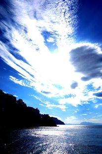 Blau, Wasser, Wolken, Sonne