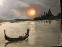 Ölmalerei, Portrait, Malerei, Wasser
