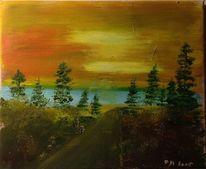Malerei, Landschaft, Ölmalerei, Westen