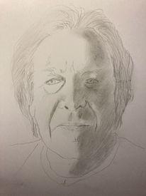 Figur, Menschen, Bleistiftzeichnung, Portrait
