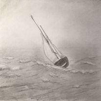 Zeichnung, Radiergummi, Wasser, Bleistiftzeichnung