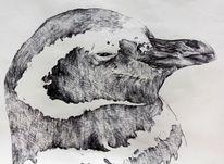Schwarz weiß, Portrait, Stehen, Kugelschreiber