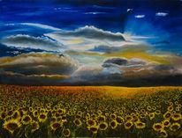 Gelb, Erde, Sonne, Blau