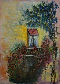 Malerei, Natur, Gelb, Blau