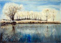 Schnee, Malerei, Wasser eis, Natur