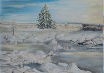 Erde, Malerei, Gelb, Natur schnee eis