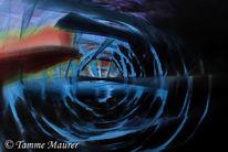 Abstrakt, Rot, Fotografie, Blau