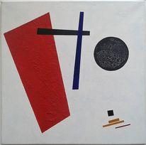 Abstrakt, Avantgarde, Leinen, Lack