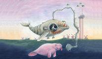 Acrylmalerei, Illustration, Illustrationen, See