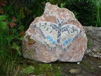Schmetterling, Garten, Stein, Kunsthandwerk