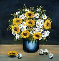 Strauß, Sommer, Blumen, Malerei