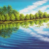Baum, See, Wasser, Himmel